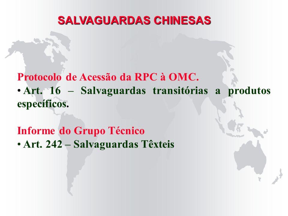 SALVAGUARDAS CHINESAS
