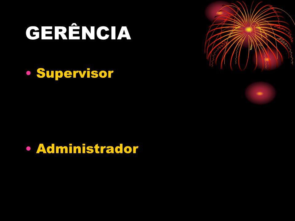 GERÊNCIA Supervisor Administrador