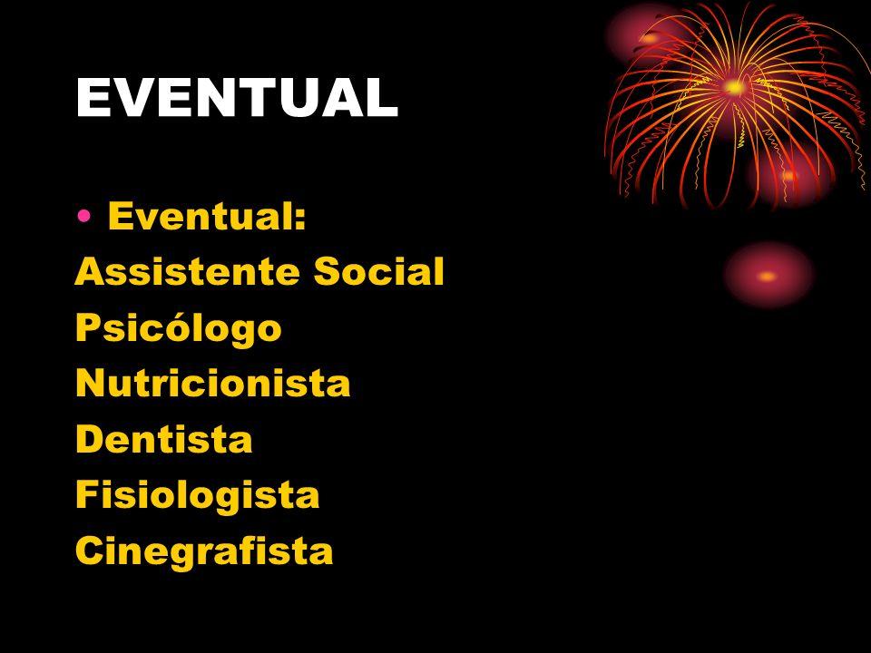 EVENTUAL Eventual: Assistente Social Psicólogo Nutricionista Dentista