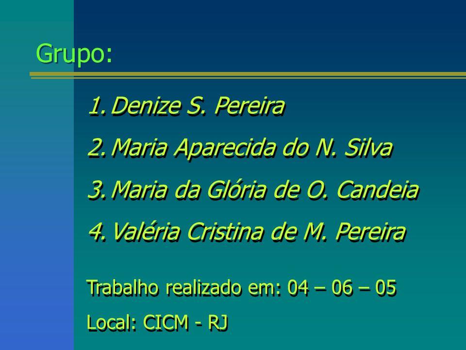 Grupo: Denize S. Pereira Maria Aparecida do N. Silva