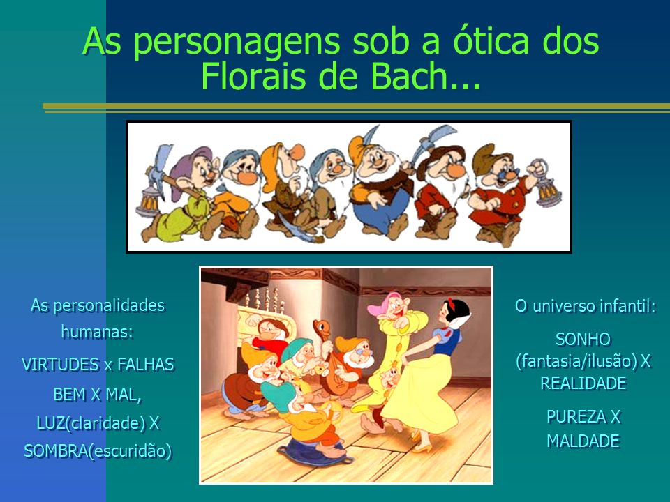 As personagens sob a ótica dos Florais de Bach...