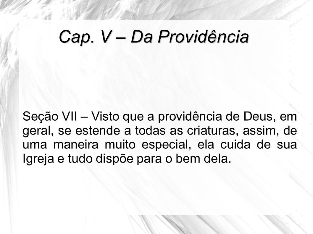 Cap. V – Da Providência
