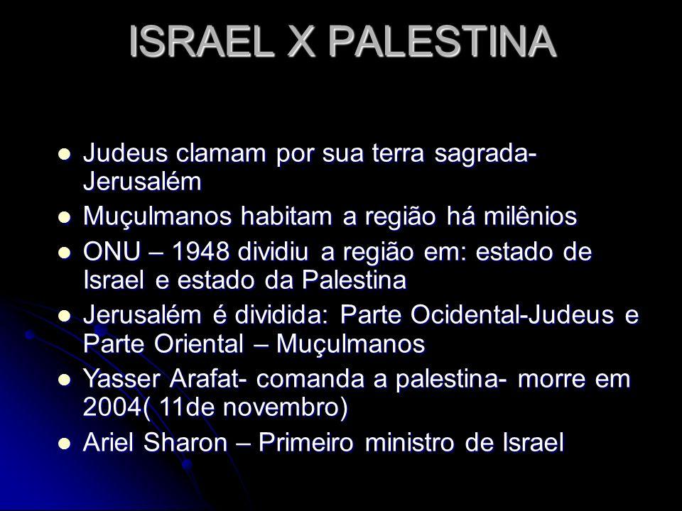 ISRAEL X PALESTINA Judeus clamam por sua terra sagrada- Jerusalém