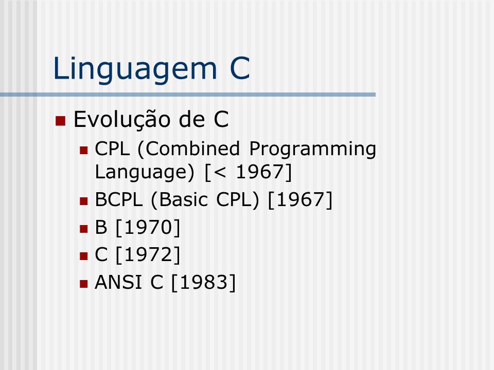Linguagem C Evolução de C
