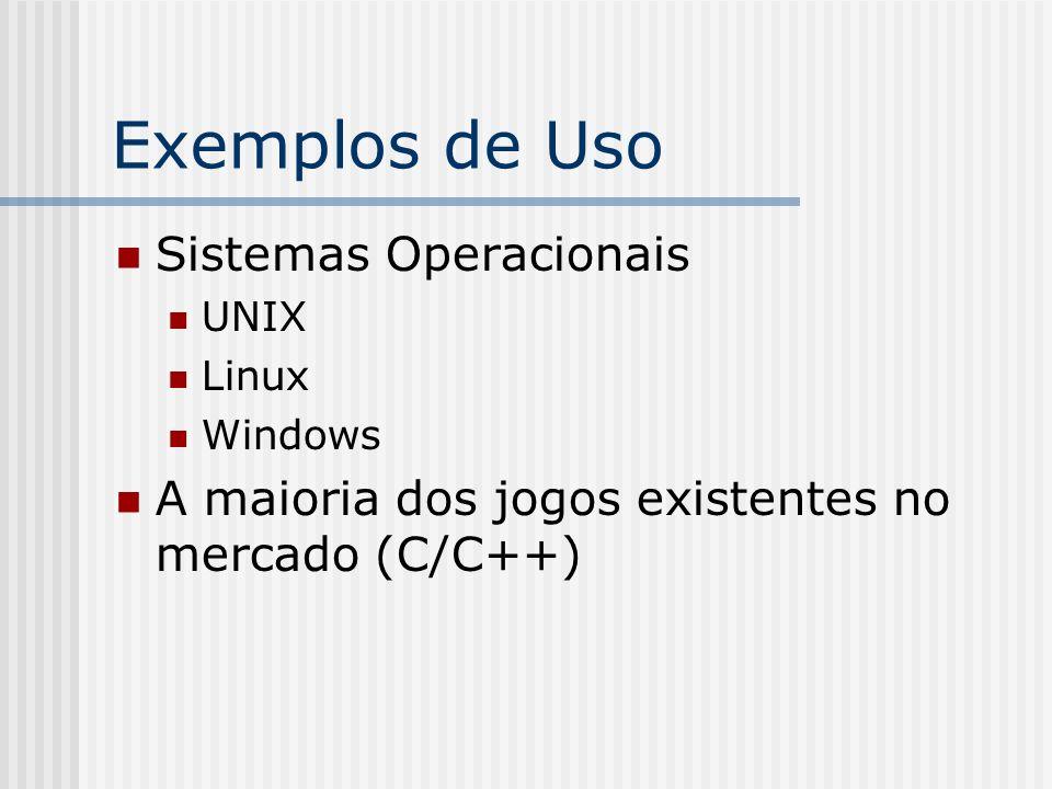 Exemplos de Uso Sistemas Operacionais