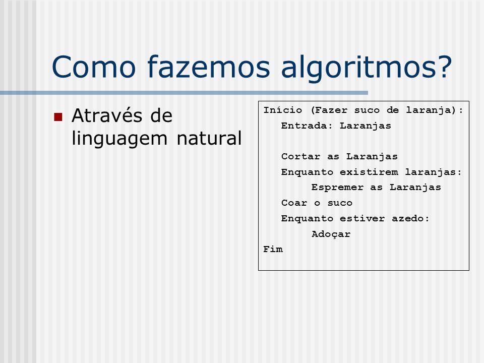 Como fazemos algoritmos