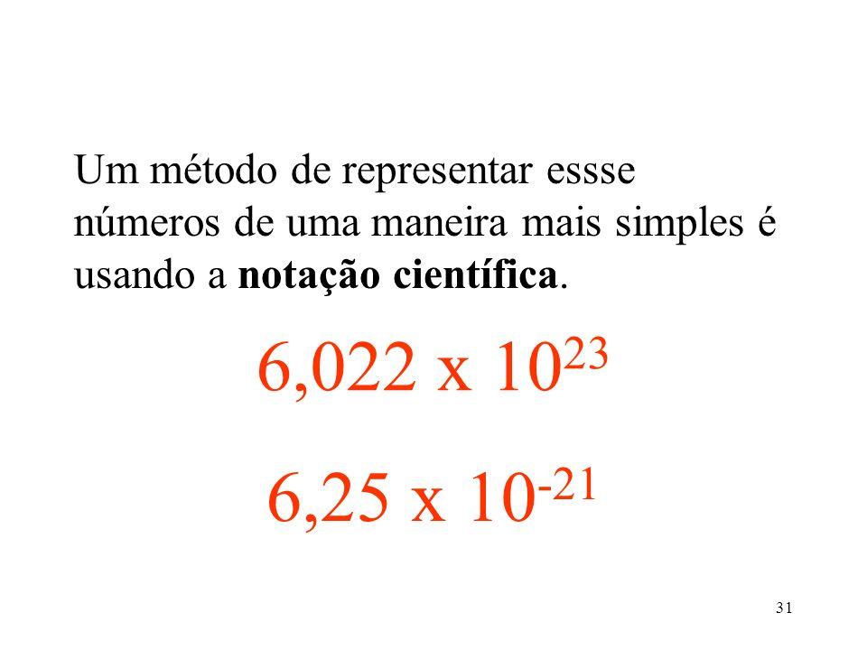 Um método de representar essse números de uma maneira mais simples é usando a notação científica.