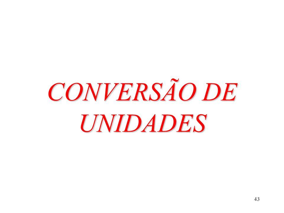 CONVERSÃO DE UNIDADES