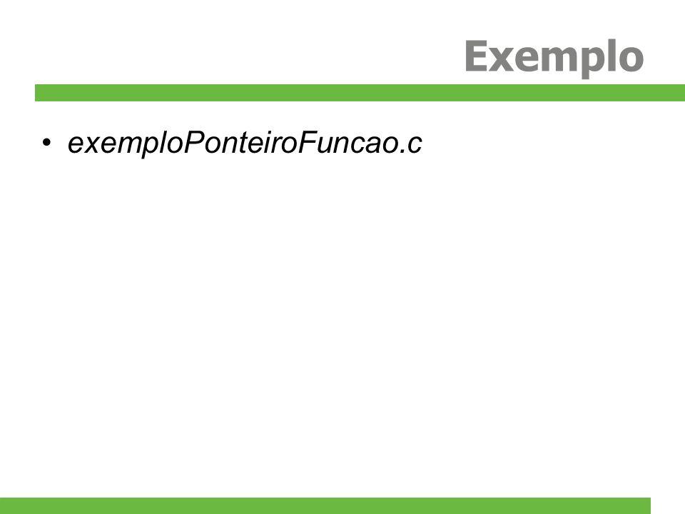Exemplo exemploPonteiroFuncao.c