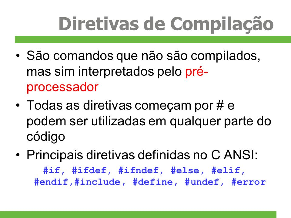 Diretivas de Compilação