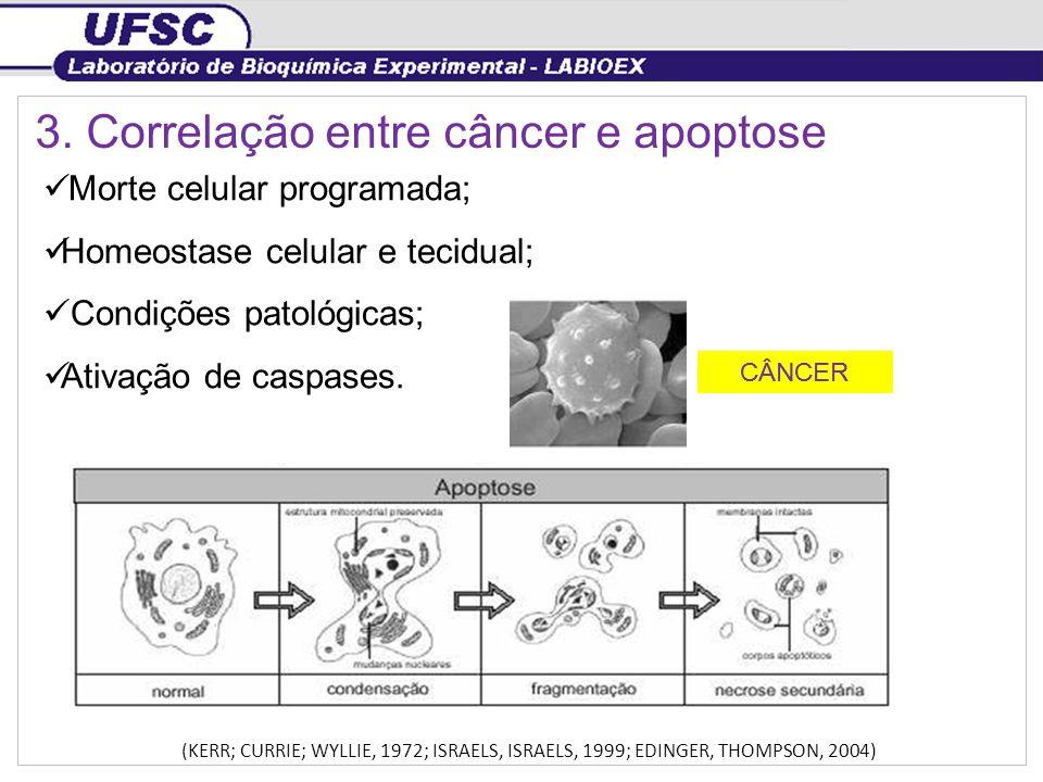 3. Correlação entre câncer e apoptose