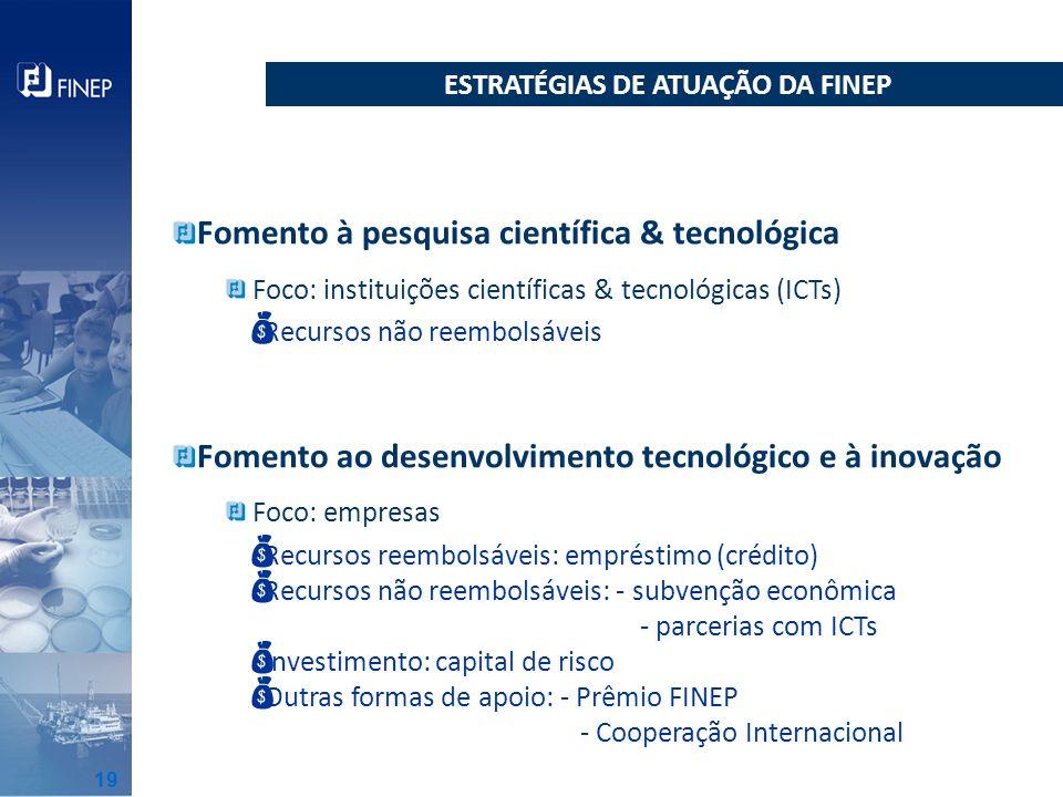 ESTRATÉGIAS DE ATUAÇÃO DA FINEP
