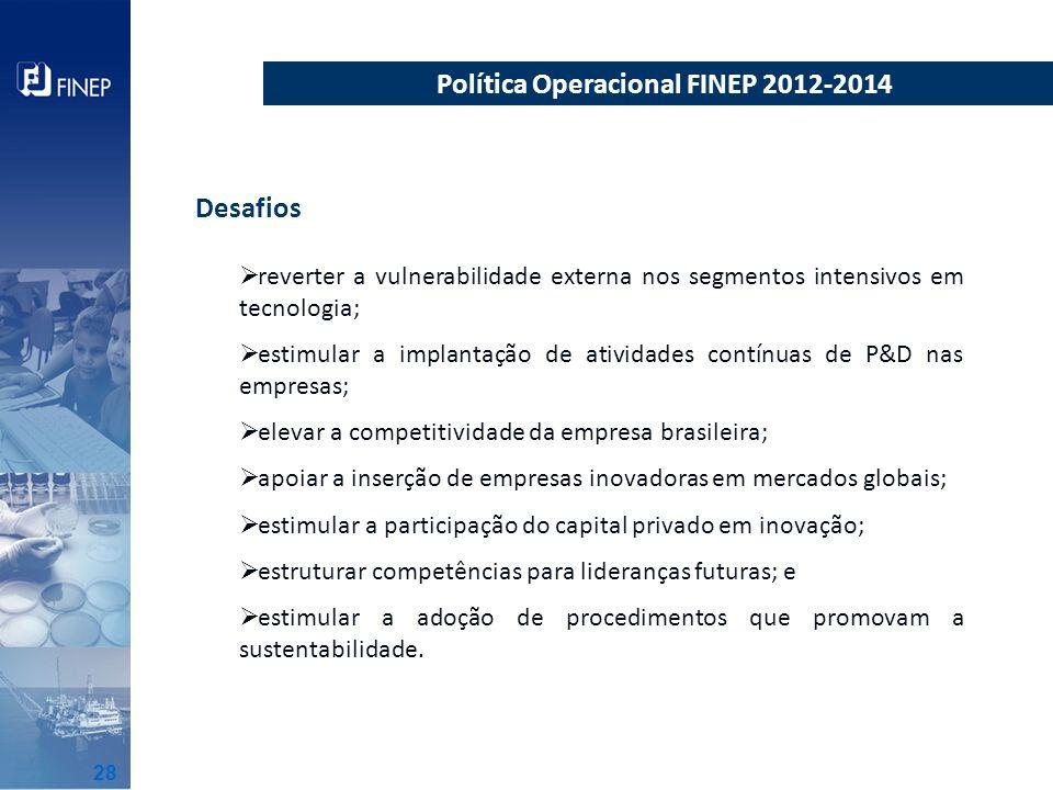 Política Operacional FINEP 2012-2014