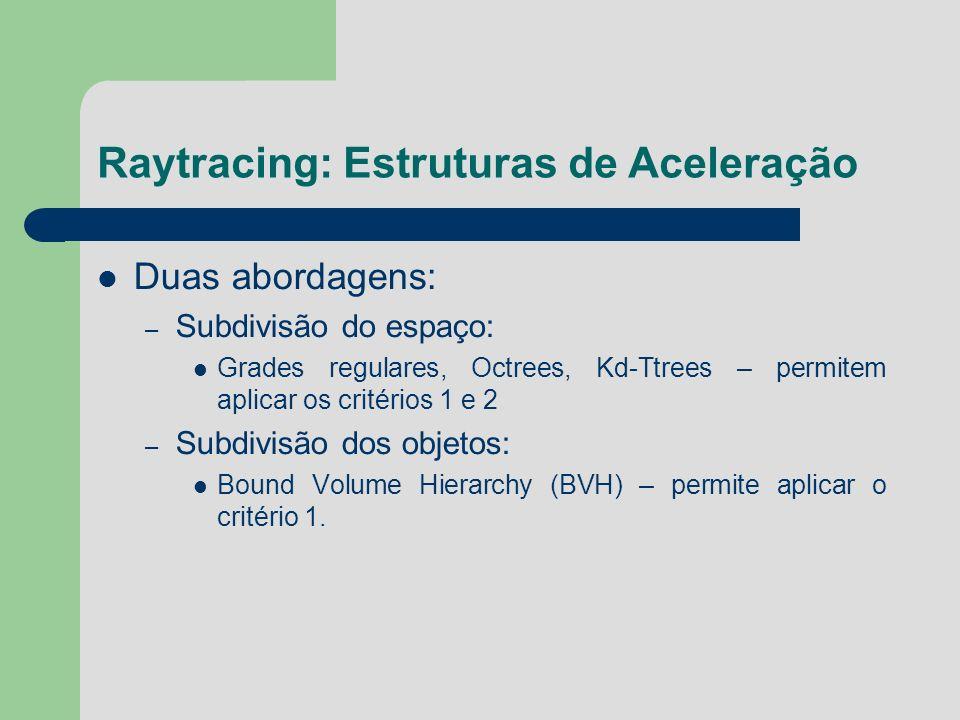 Raytracing: Estruturas de Aceleração