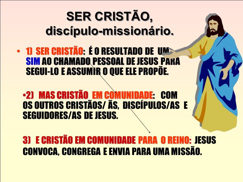 SER CRISTÃO, discípulo-missionário.