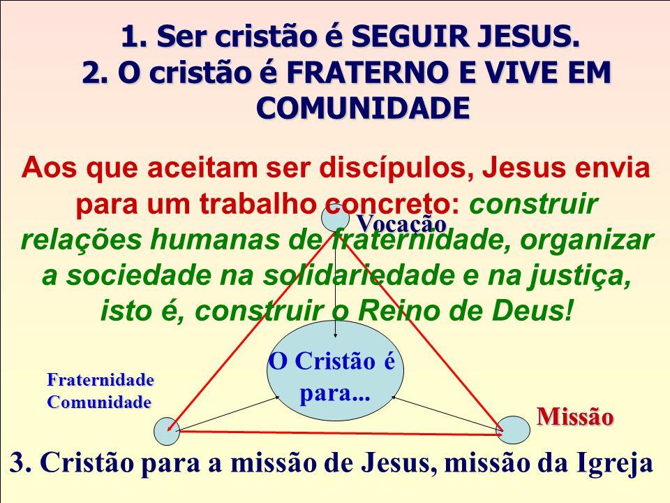 2. O cristão é FRATERNO E VIVE EM COMUNIDADE