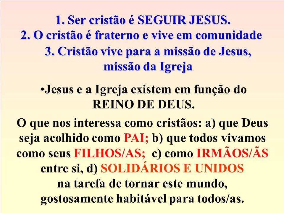 1. Ser cristão é SEGUIR JESUS.