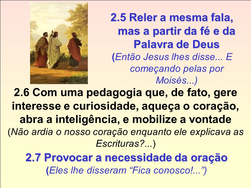 2.5 Reler a mesma fala, mas a partir da fé e da Palavra de Deus