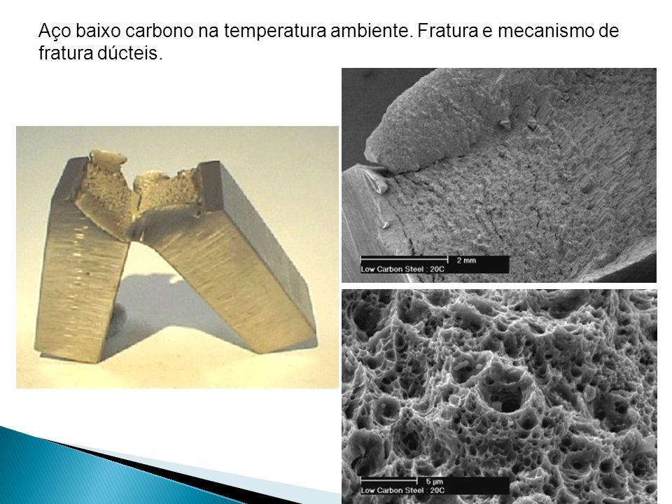 Aço baixo carbono na temperatura ambiente. Fratura e mecanismo de