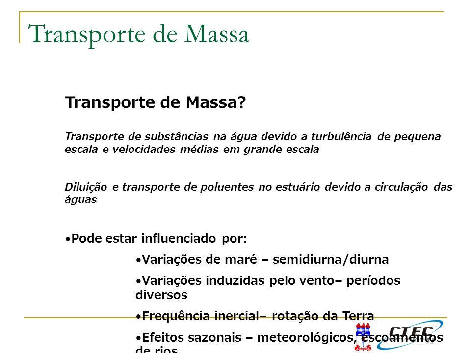 Transporte de Massa Transporte de Massa Pode estar influenciado por: