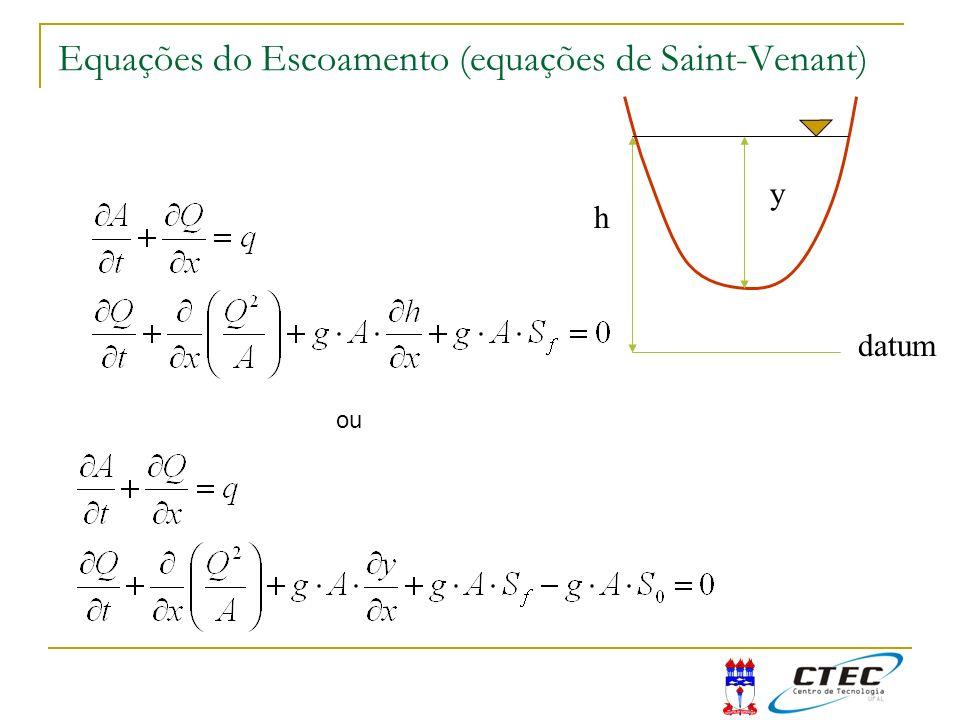 Equações do Escoamento (equações de Saint-Venant)