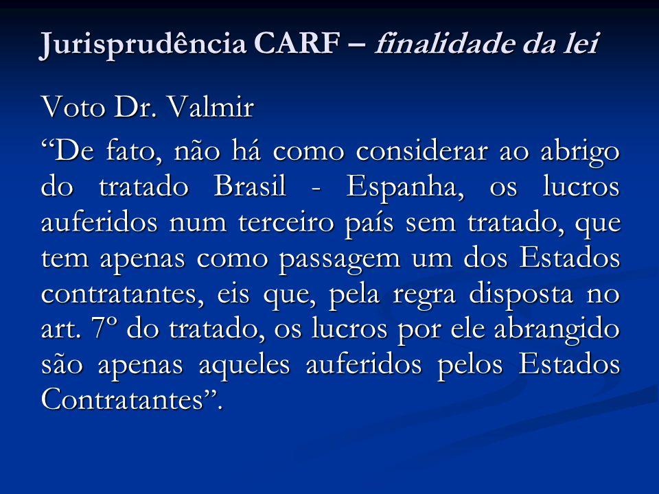 Jurisprudência CARF – finalidade da lei