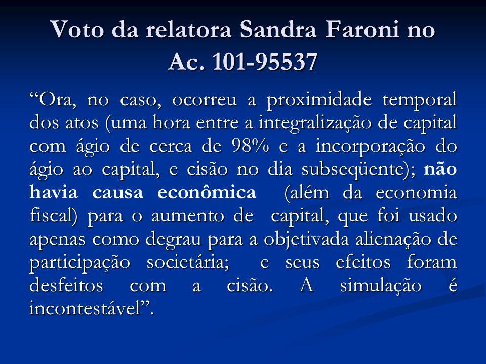 Voto da relatora Sandra Faroni no Ac. 101-95537