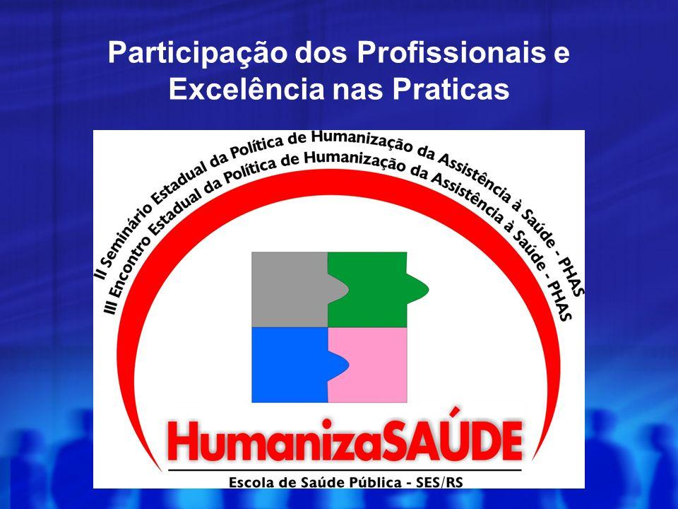 Participação dos Profissionais e Excelência nas Praticas