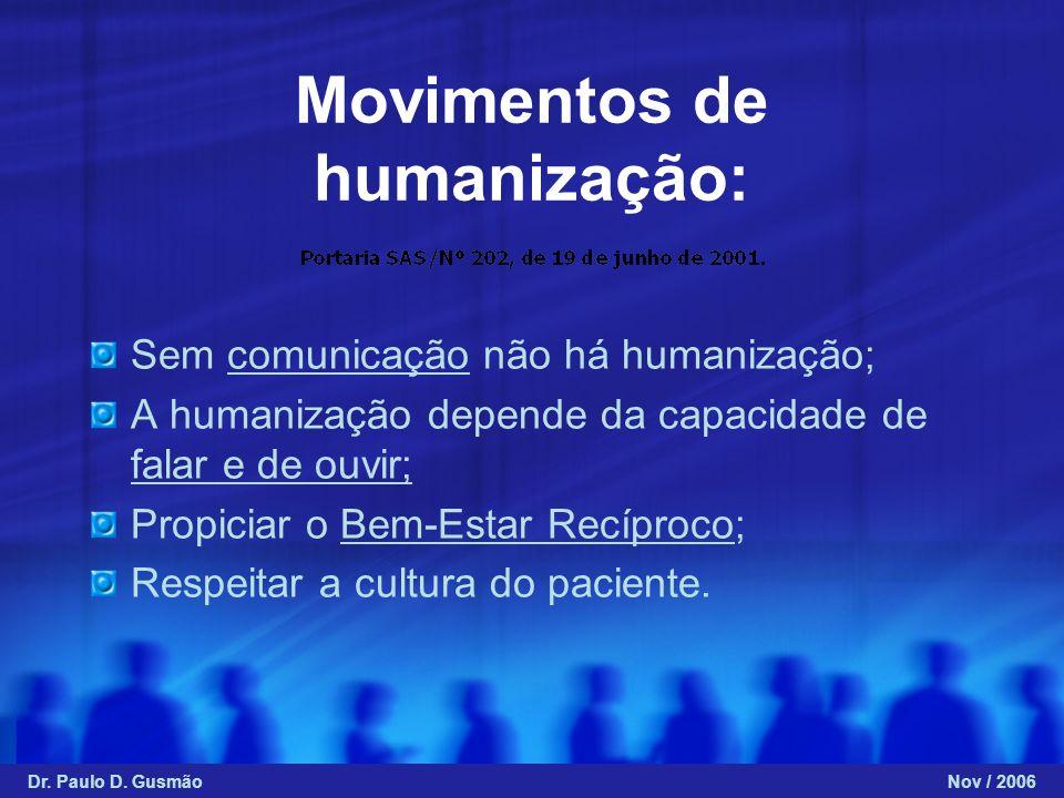 Movimentos de humanização: