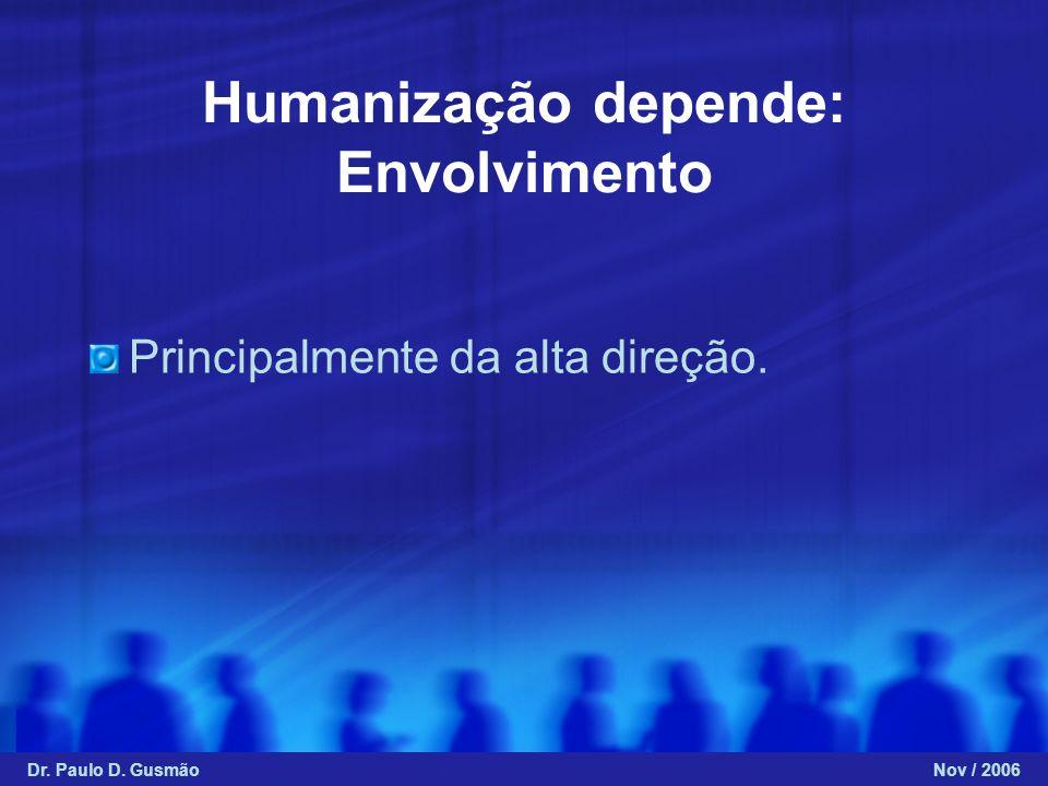 Humanização depende: Envolvimento