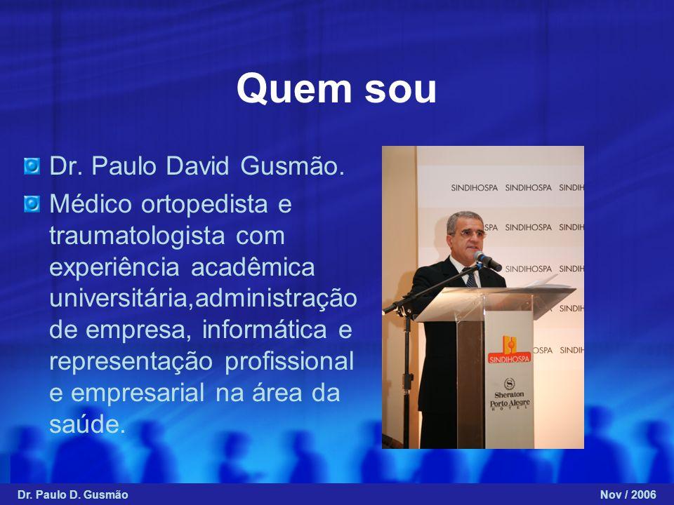 Quem sou Dr. Paulo David Gusmão.