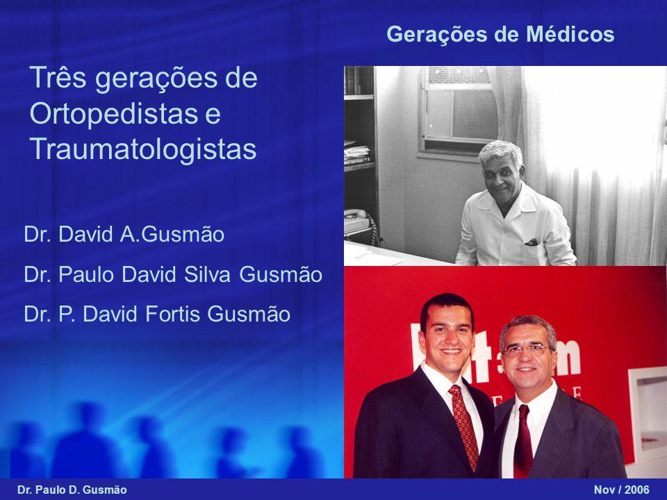 Três gerações de Ortopedistas e Traumatologistas