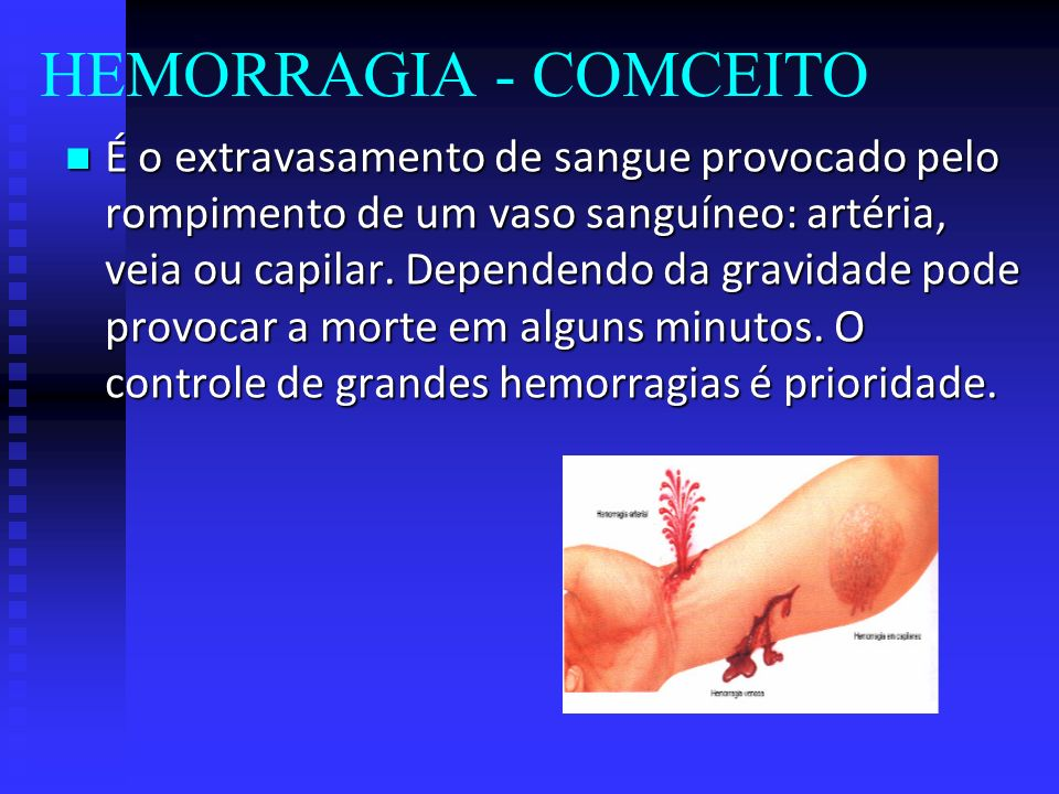 HEMORRAGIA - COMCEITO