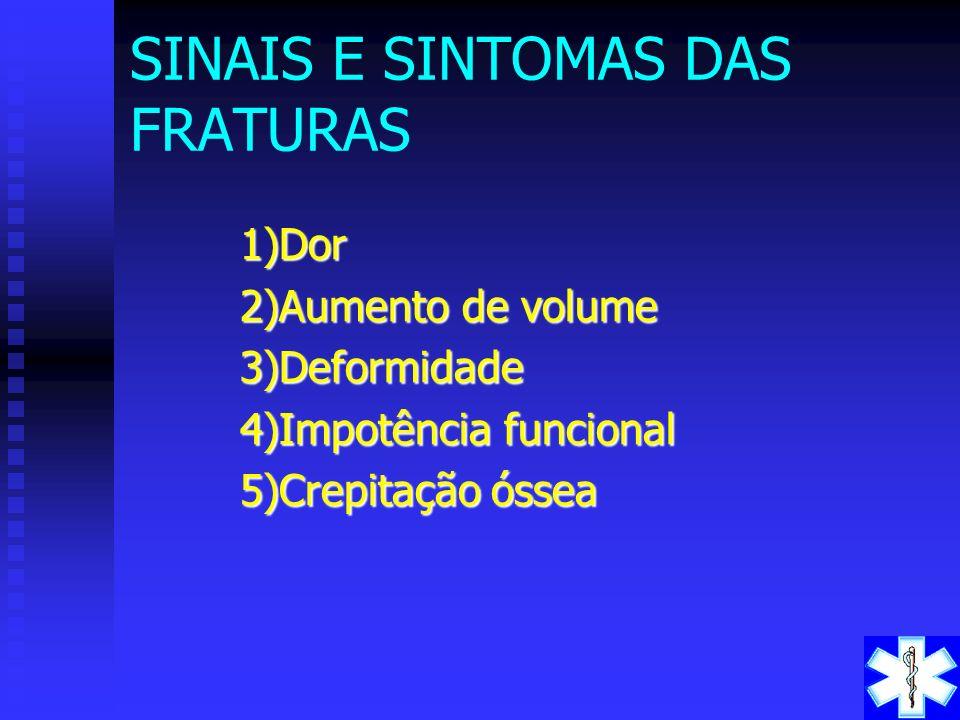 SINAIS E SINTOMAS DAS FRATURAS