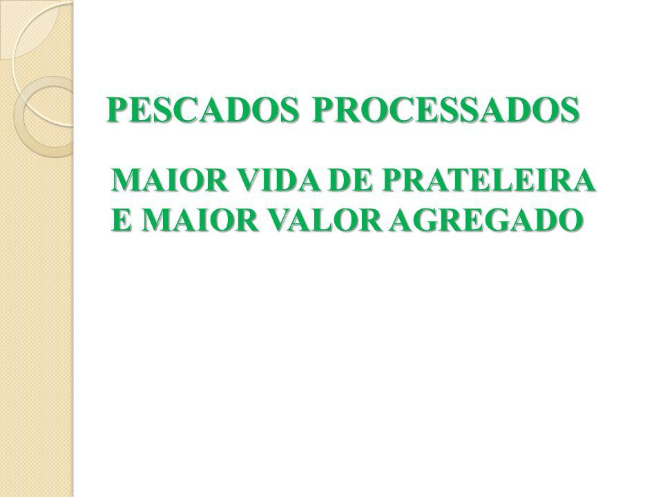 PESCADOS PROCESSADOS MAIOR VIDA DE PRATELEIRA E MAIOR VALOR AGREGADO