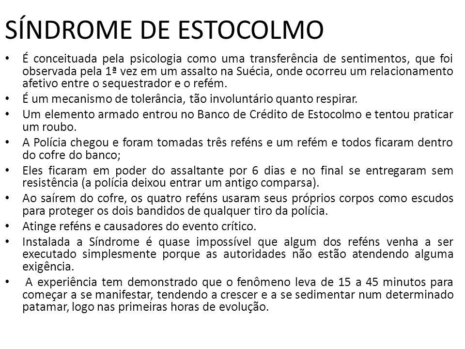 SÍNDROME DE ESTOCOLMO