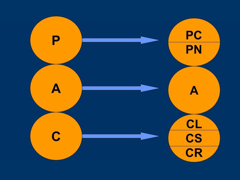 P PC PN A A C CL CS CR