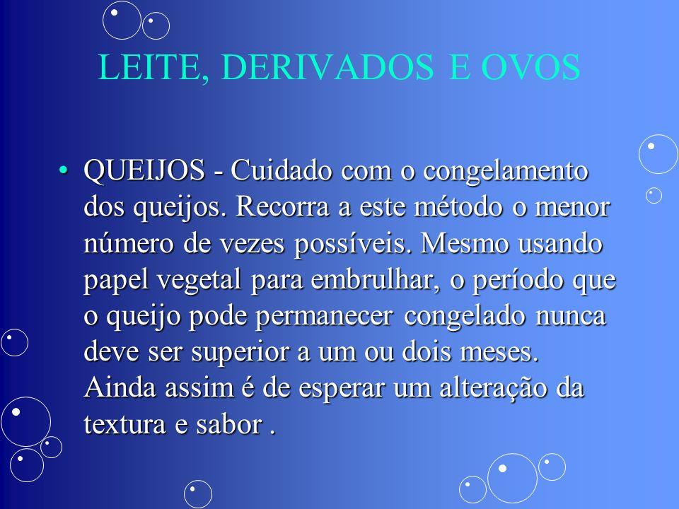 LEITE, DERIVADOS E OVOS