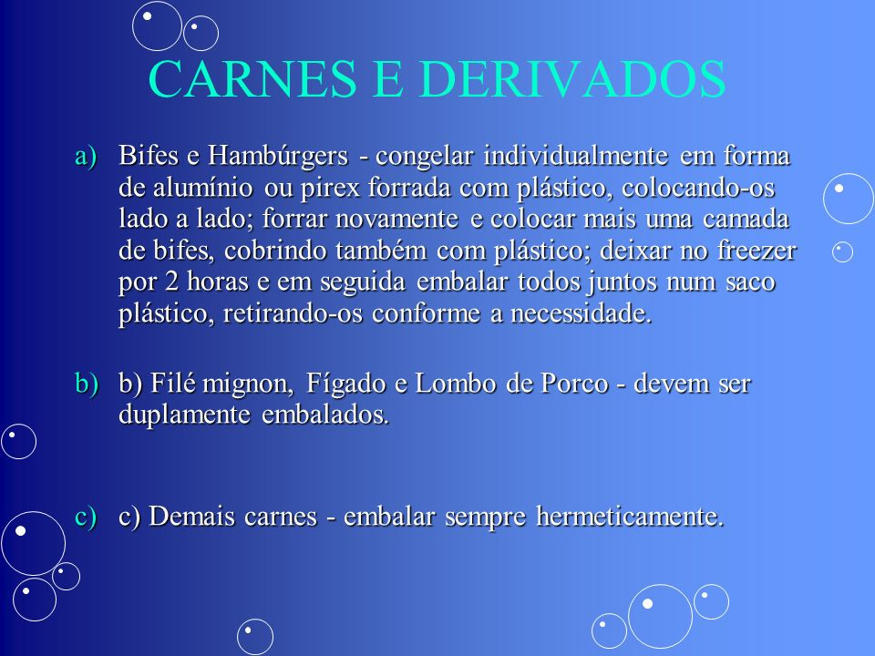 CARNES E DERIVADOS
