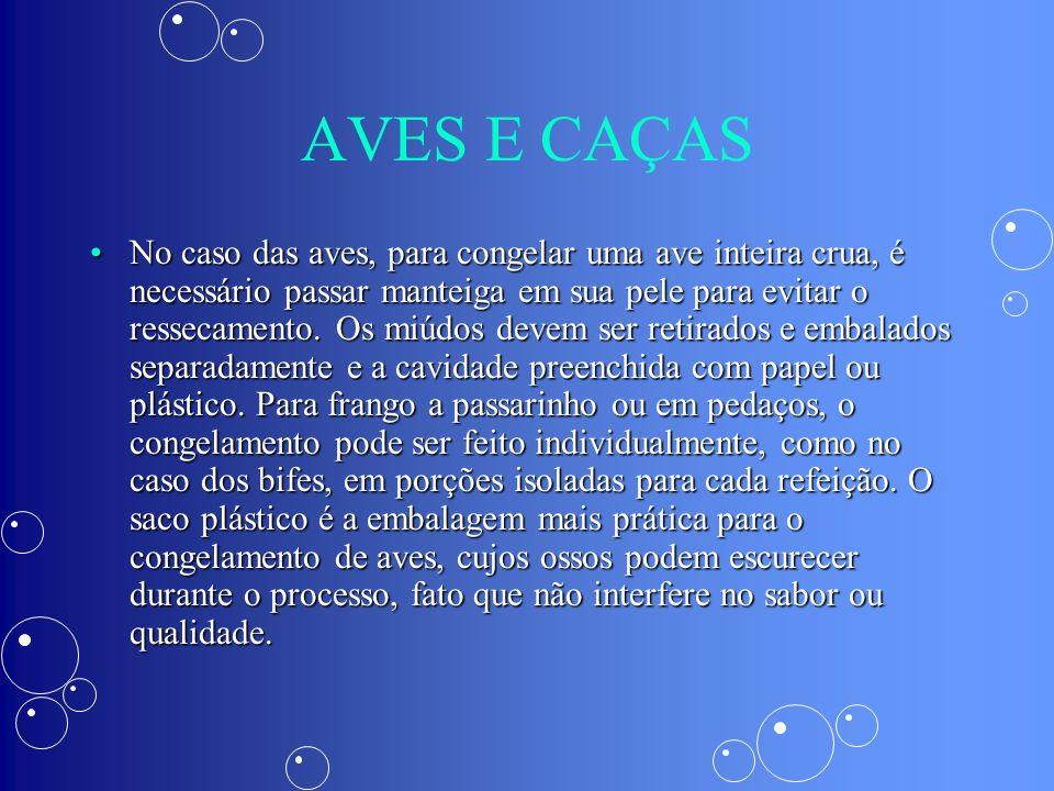AVES E CAÇAS