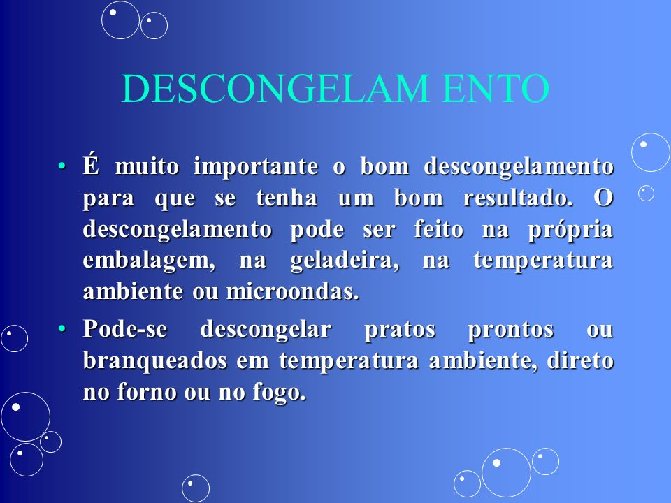 DESCONGELAM ENTO