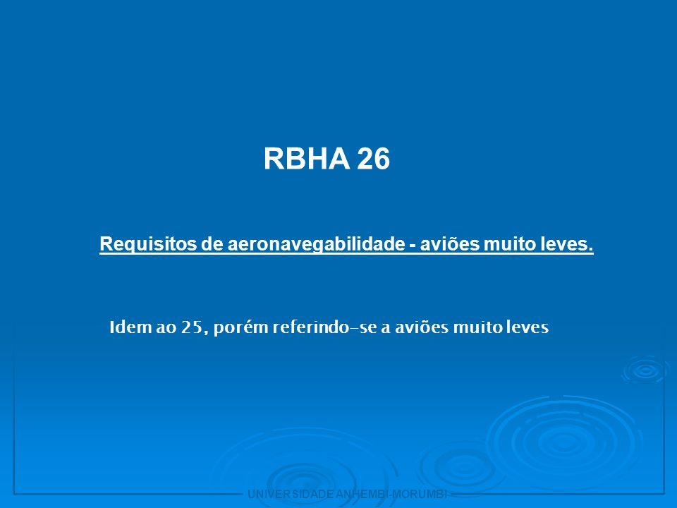 Requisitos de aeronavegabilidade - aviões muito leves.