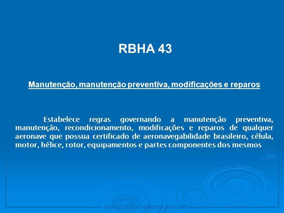 Manutenção, manutenção preventiva, modificações e reparos