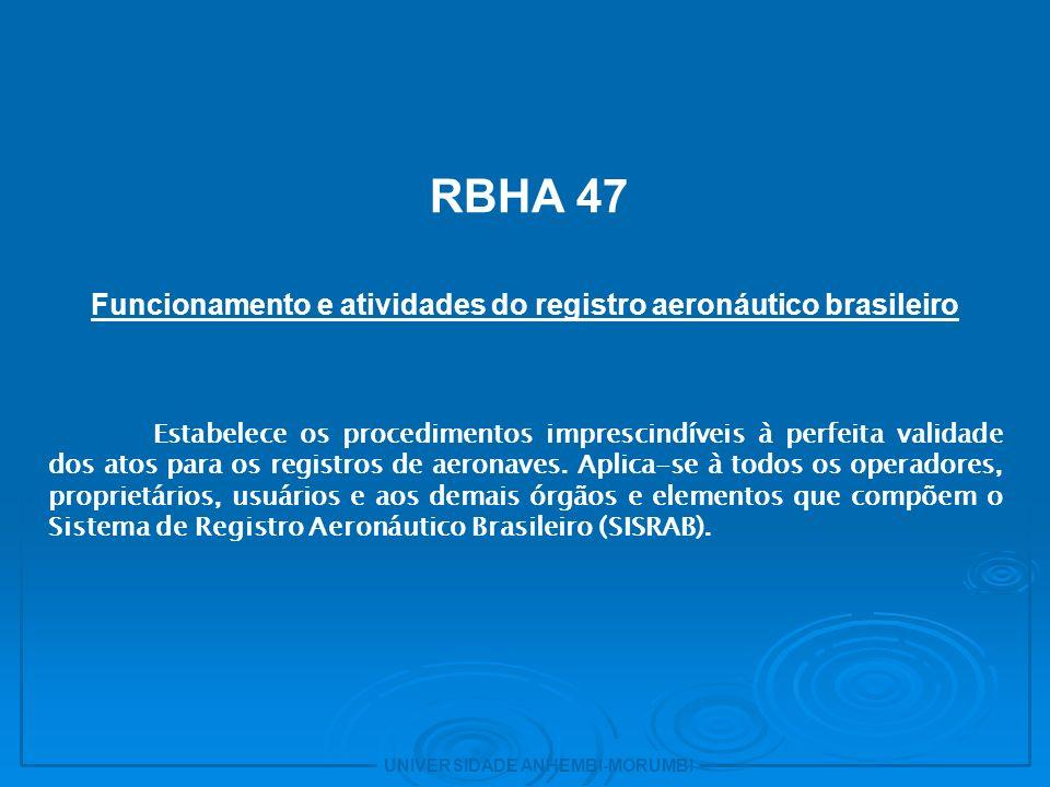 Funcionamento e atividades do registro aeronáutico brasileiro