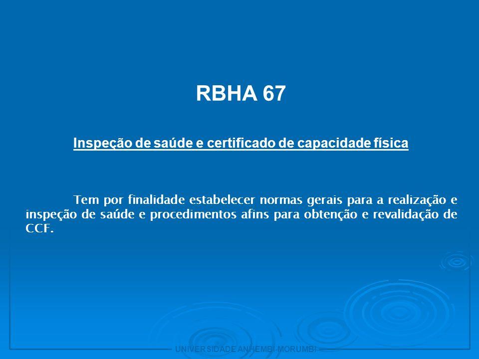 Inspeção de saúde e certificado de capacidade física