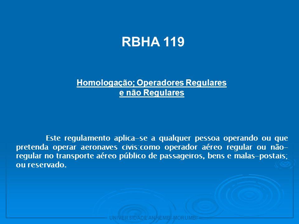 Homologação; Operadores Regulares