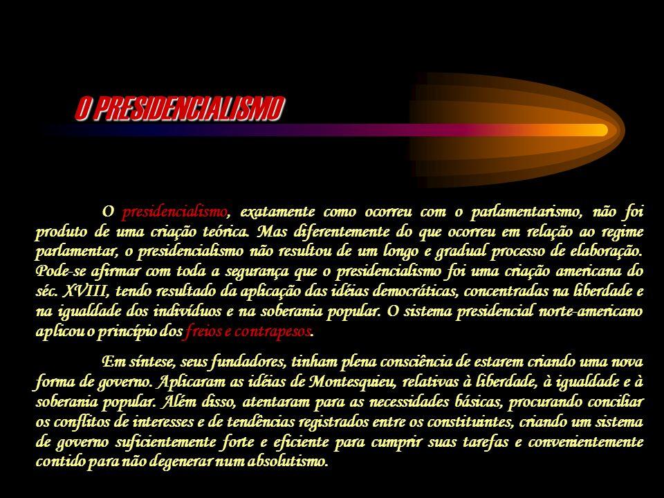 O PRESIDENCIALISMO