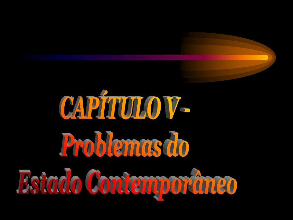 CAPÍTULO V - Problemas do Estado Contemporâneo