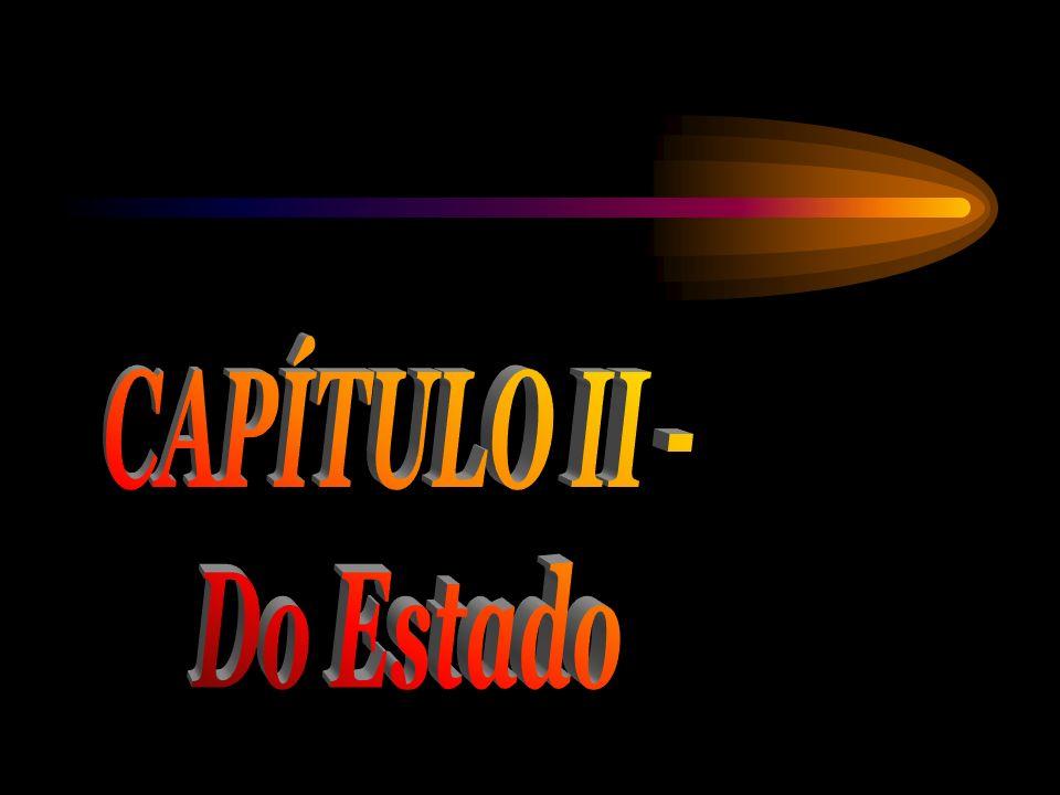 CAPÍTULO II - Do Estado