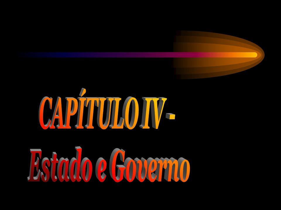 CAPÍTULO IV - Estado e Governo